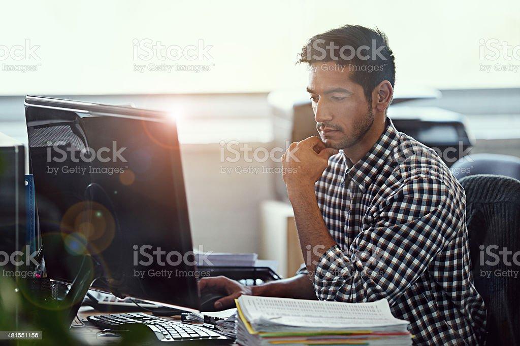 Thinking things through stock photo
