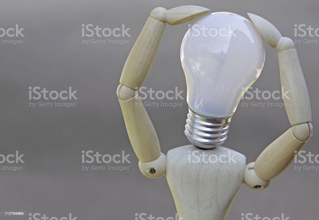 thinking up a bright idea royalty-free stock photo