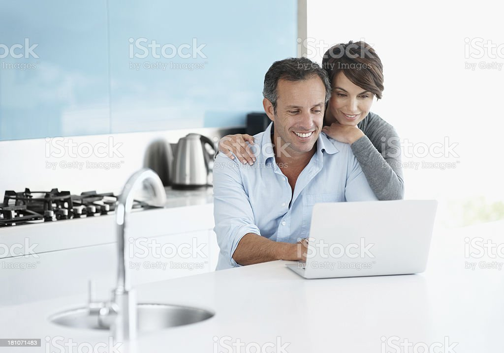 Thinking up some recipes together royalty-free stock photo