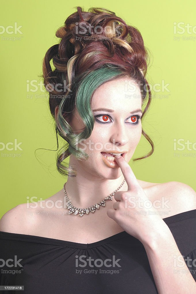 Thinking with red eyes. royalty-free stock photo
