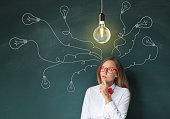 Thinking woman new ideas