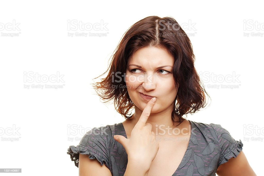 Thinking woman stock photo