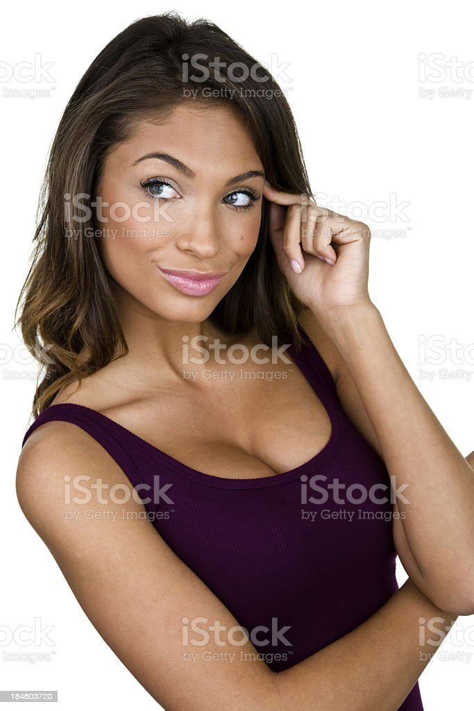 Thinking woman royalty-free stock photo