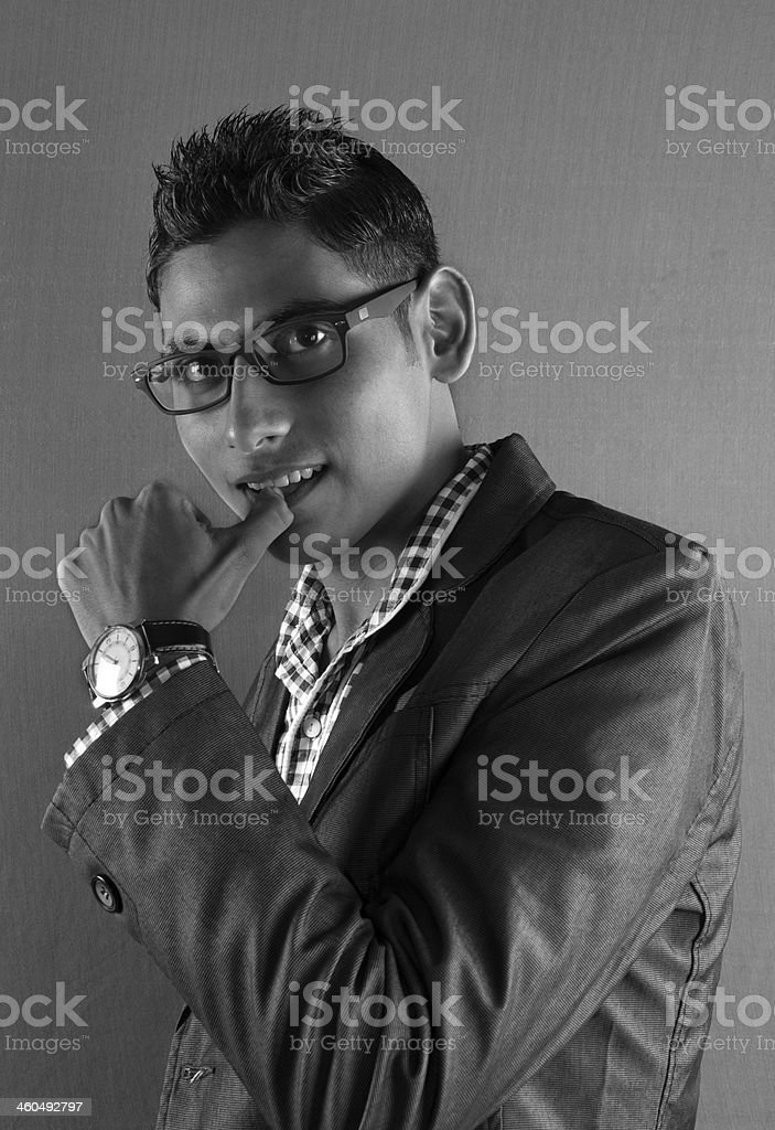 Thinking Young Businessman royalty-free stock photo