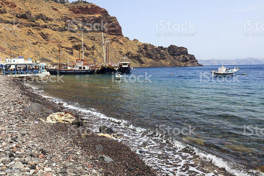Thirasia Island Santorini Greece Europe stock photo