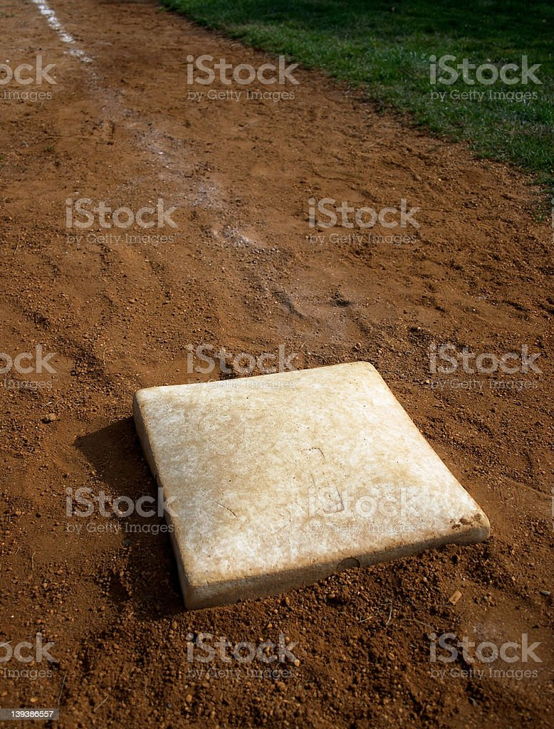 Third base royalty-free stock photo