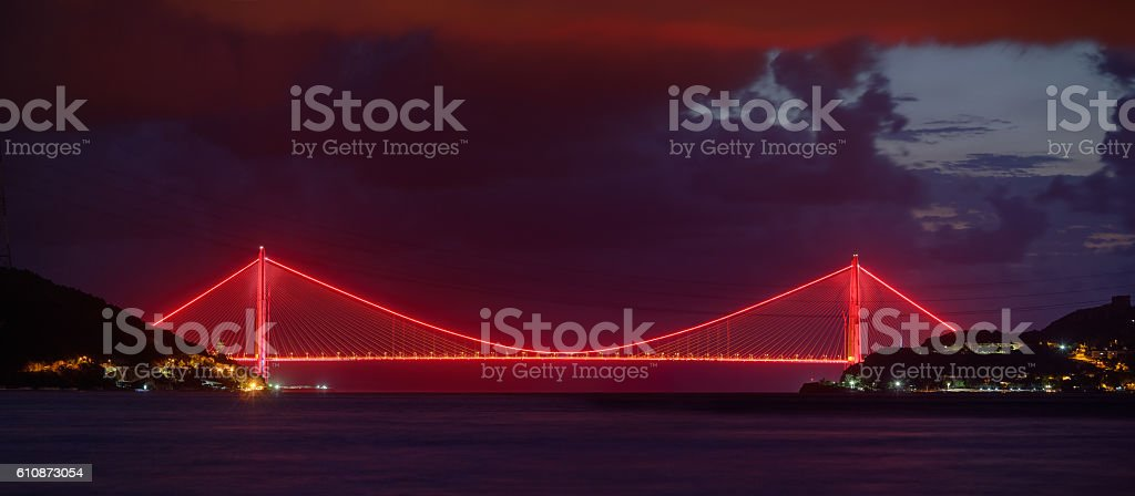 Third Bridge at Istanbul, Yavuz Sultan Selim Bridge stock photo