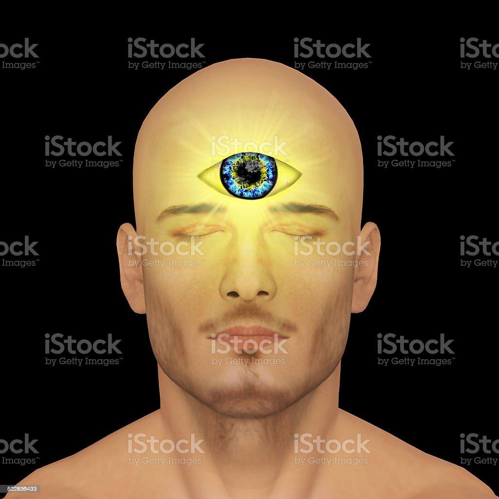 Third eye, clairvoyant stock photo