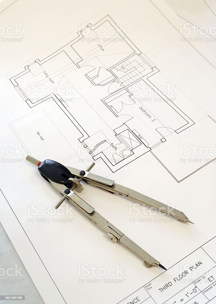 third floor plan royalty-free stock photo