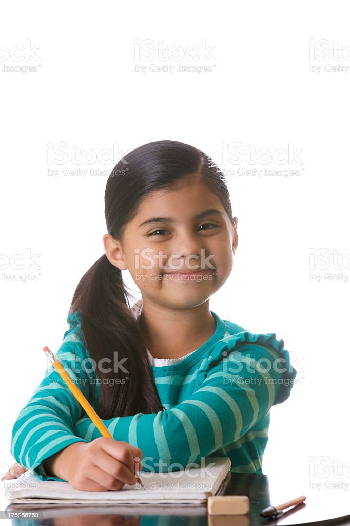 Third grader portrait girl royalty-free stock photo