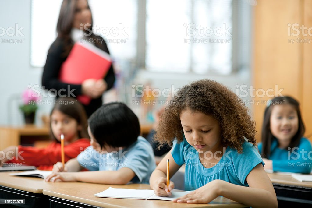Third graders royalty-free stock photo
