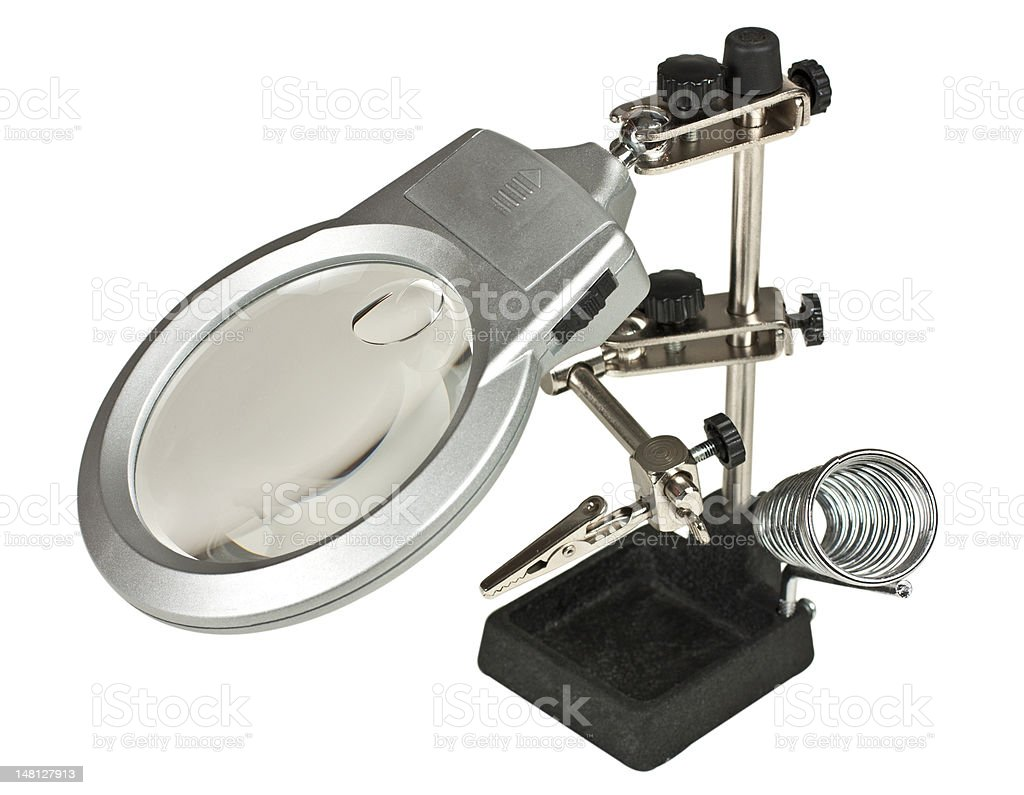 Third hand magnifier royalty-free stock photo