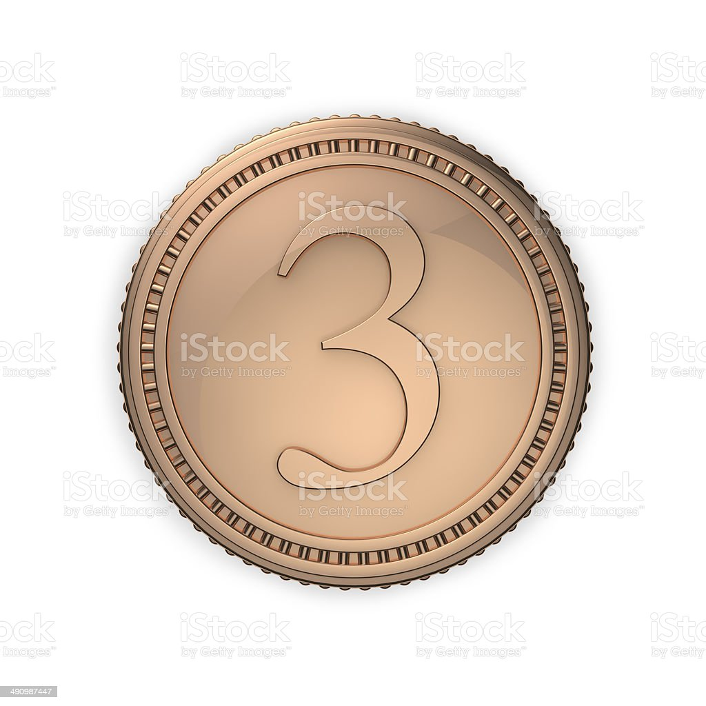 Third Place Bronze Medal royalty-free stock photo