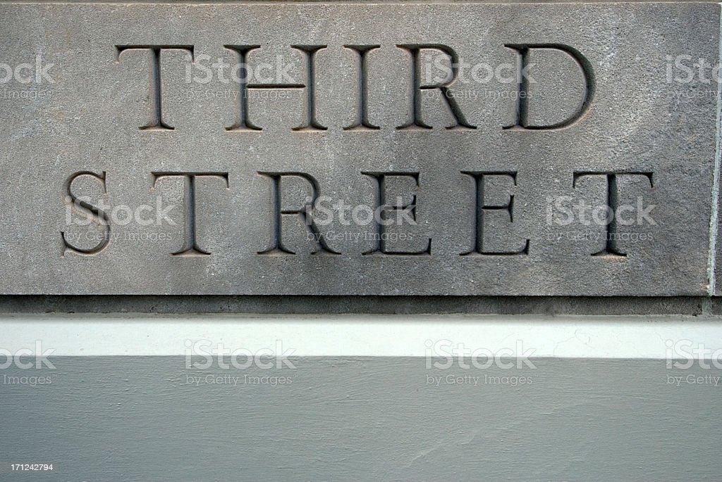 Third Street royalty-free stock photo