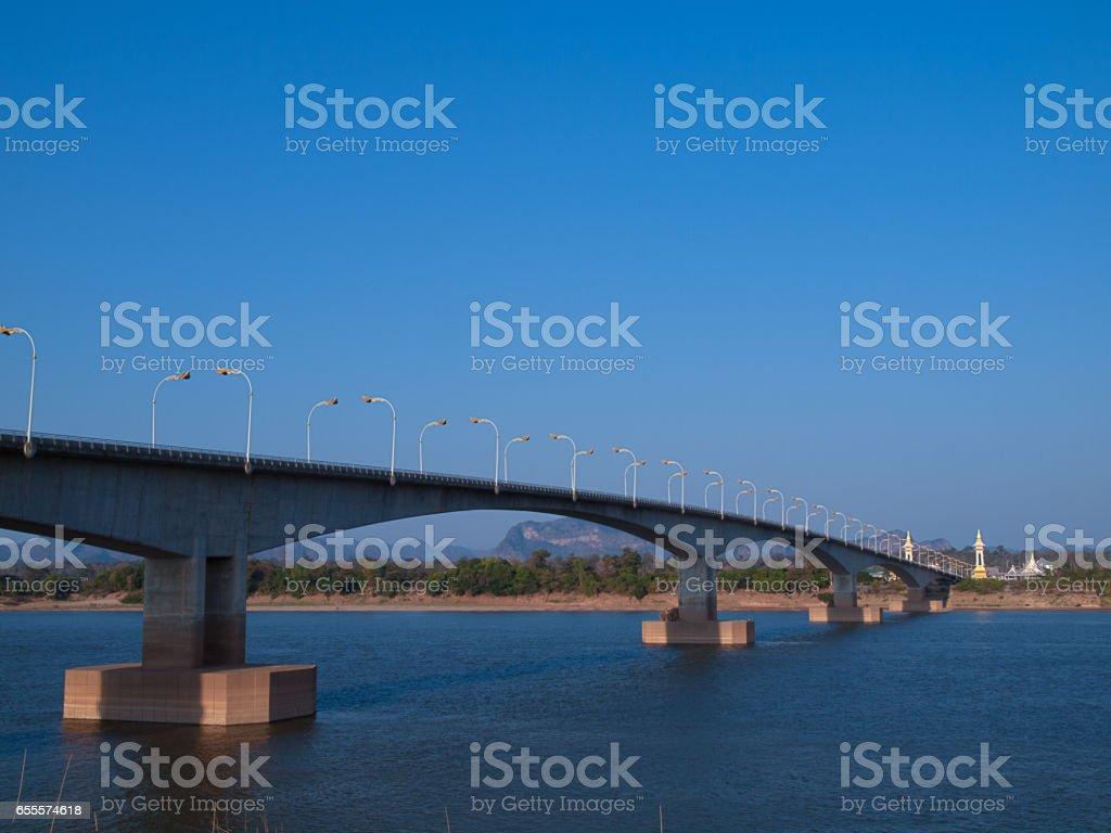 Third Thai–Lao Friendship Bridge. stock photo