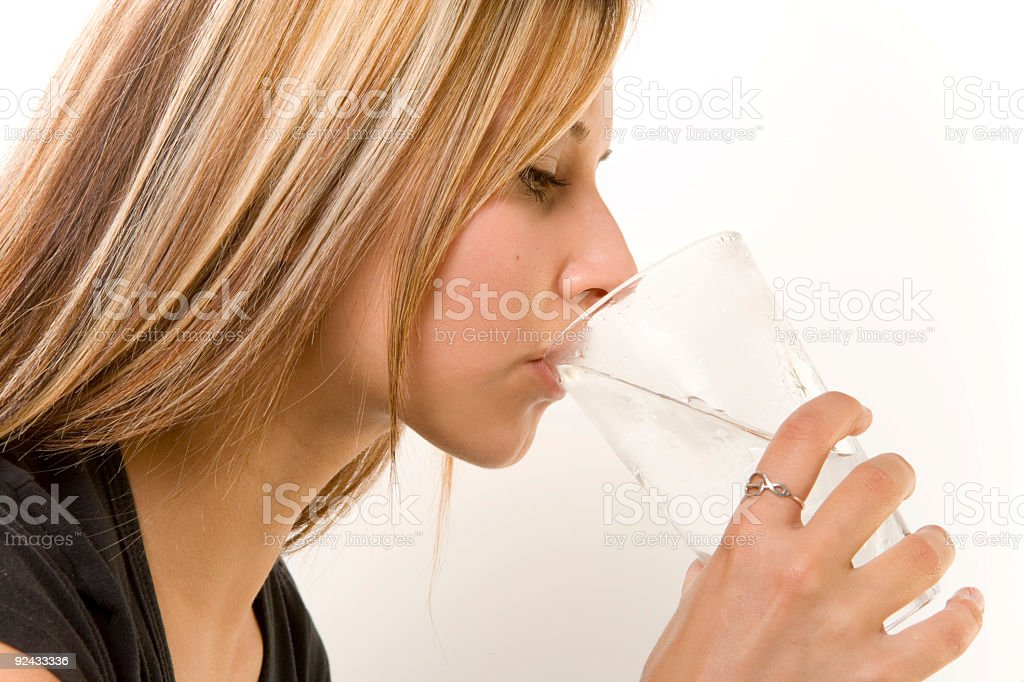 Thirst Quenching royalty-free stock photo