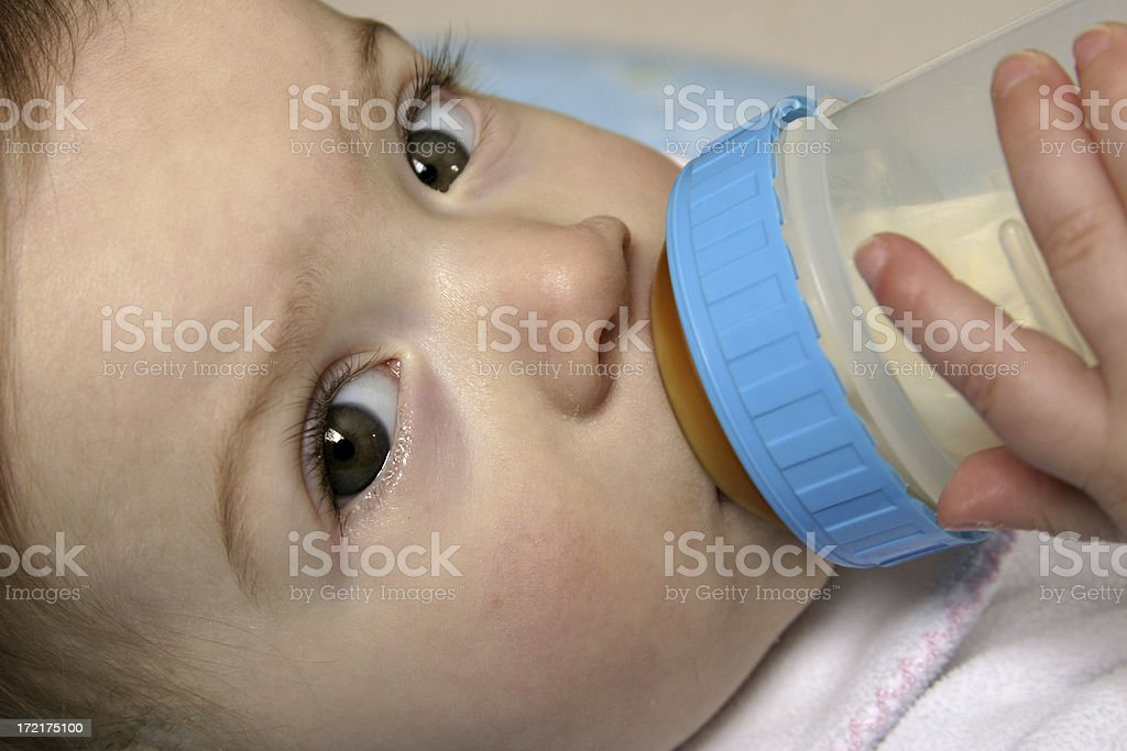 Thirsty Baby royalty-free stock photo