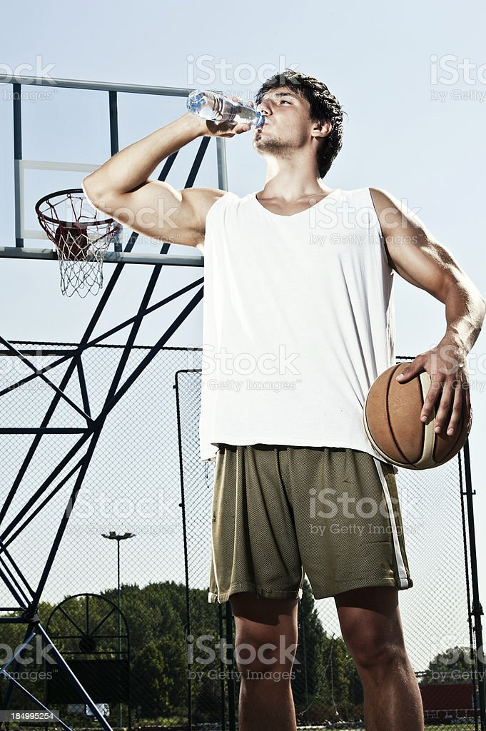 Thirsty Basketball player royalty-free stock photo