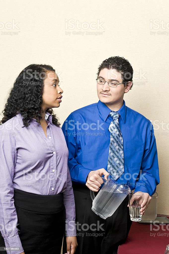 Thirsty business team royalty-free stock photo