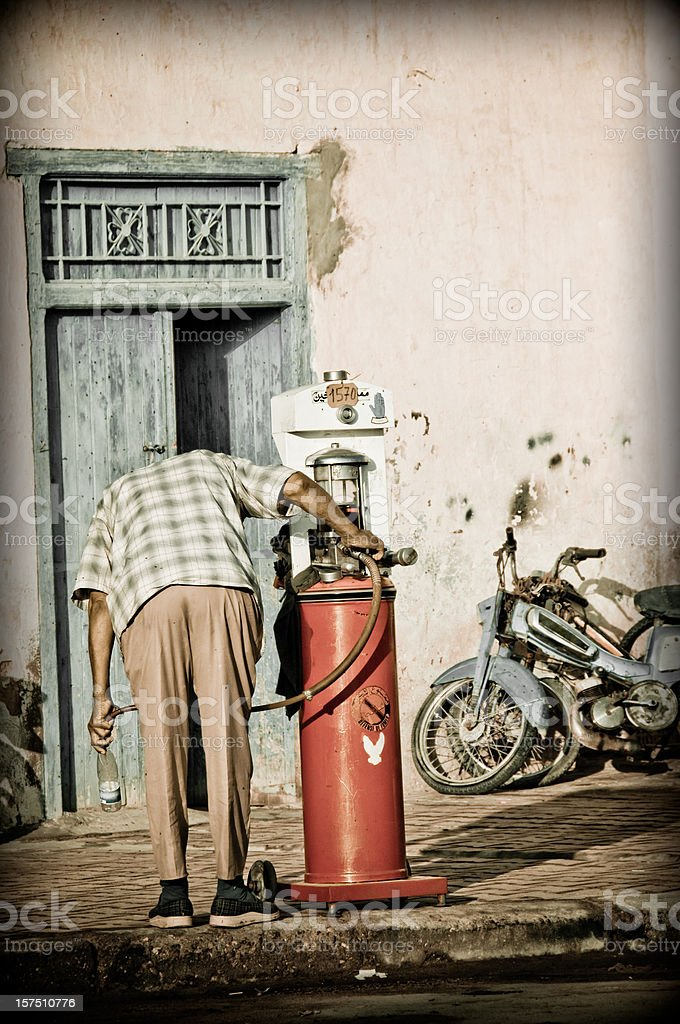 Thirsty for gasoline? royalty-free stock photo