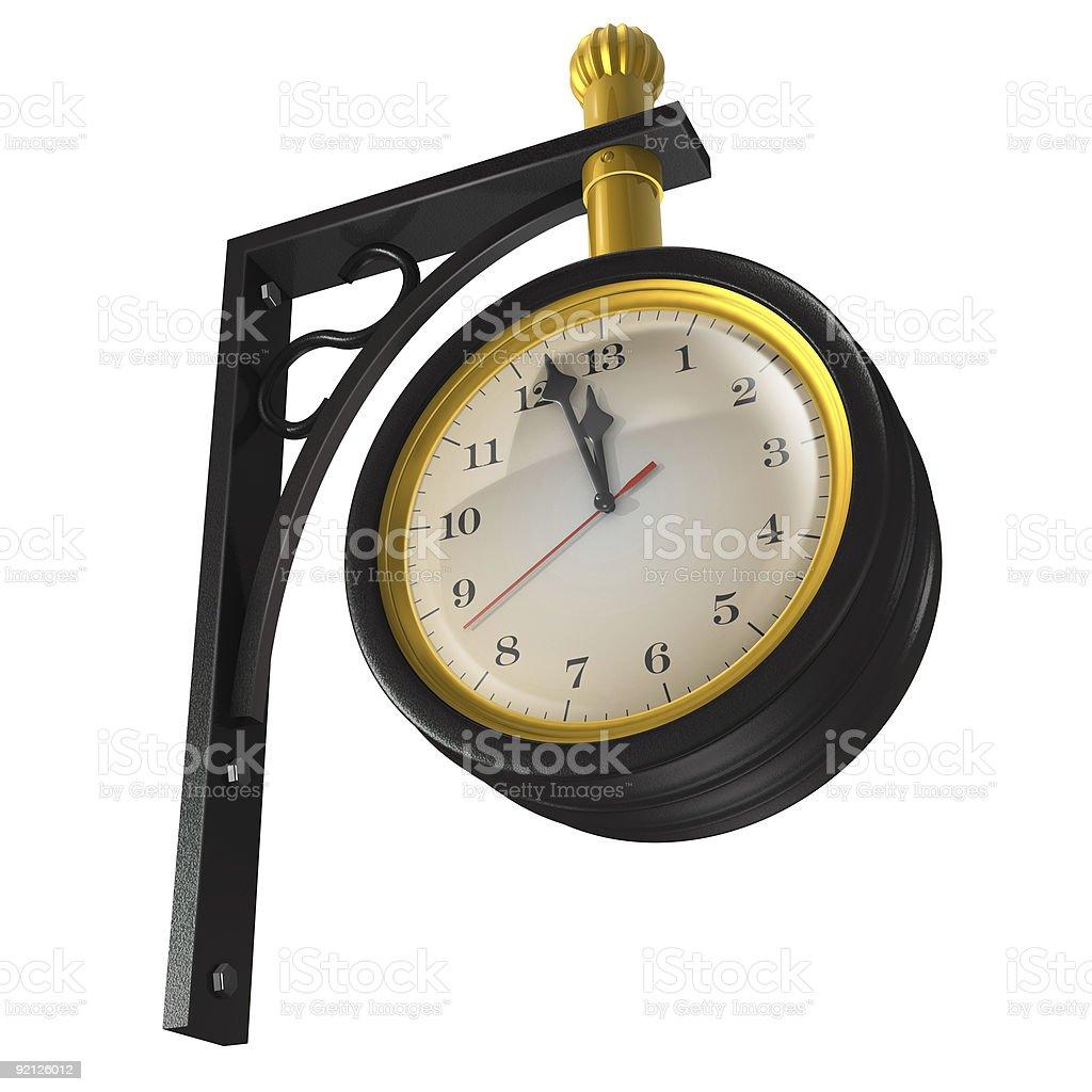 Thirteen hour clock royalty-free stock photo