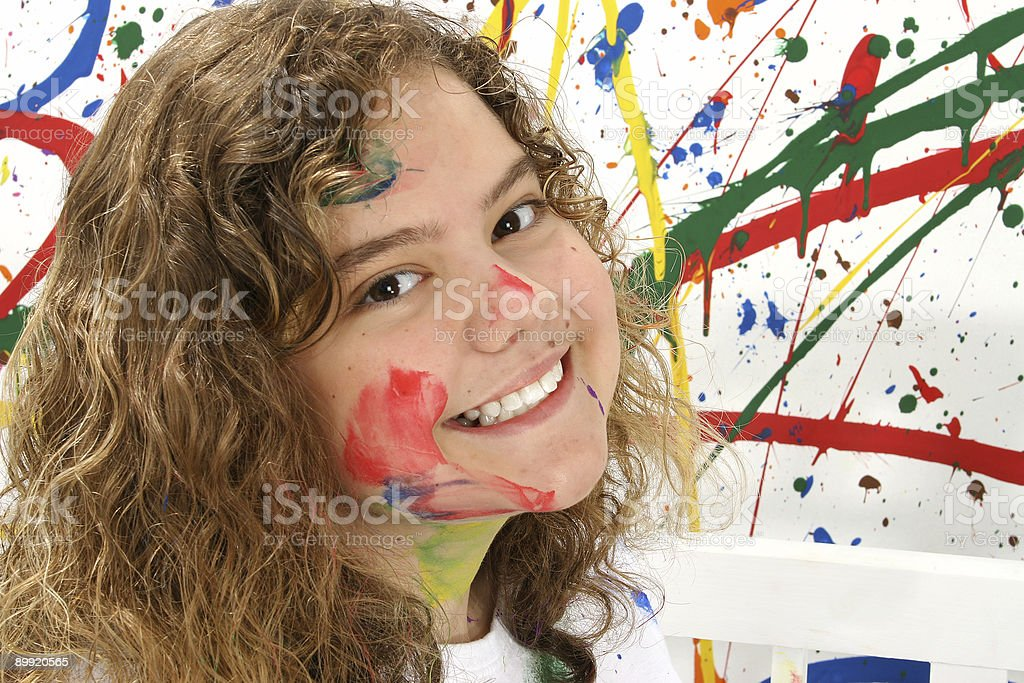 Thirteen Year Old in Paint royalty-free stock photo