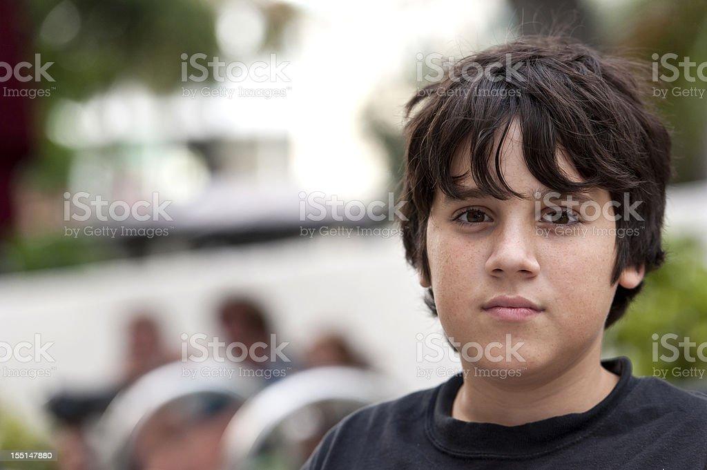 thirteen years old boy stock photo