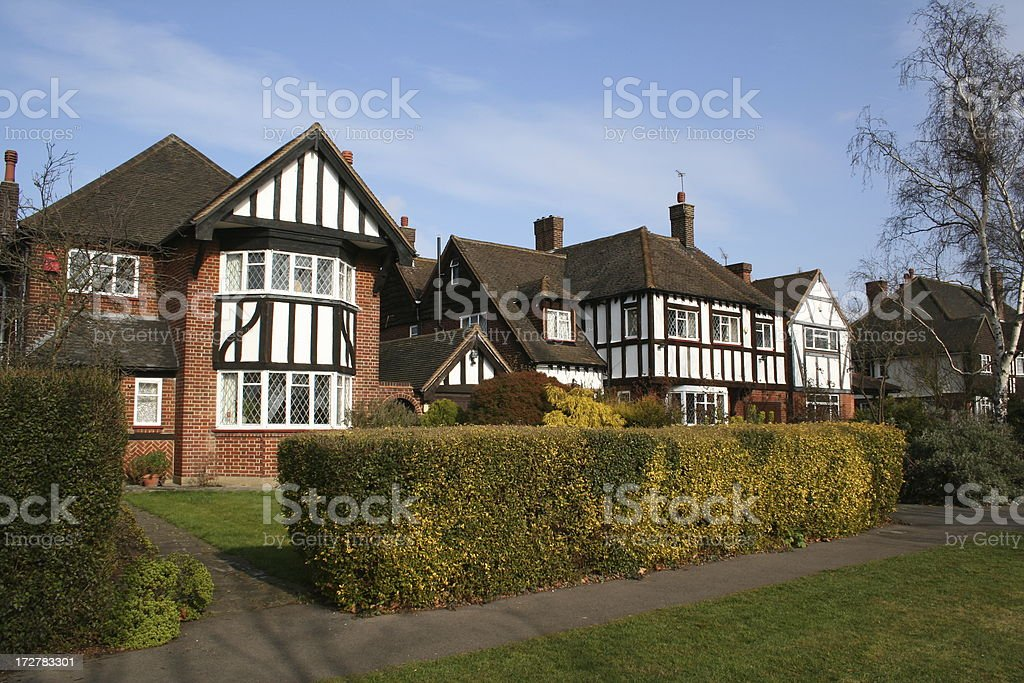 Thirties houses London England royalty-free stock photo