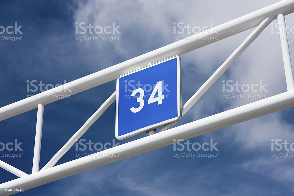 Thirty four stock photo