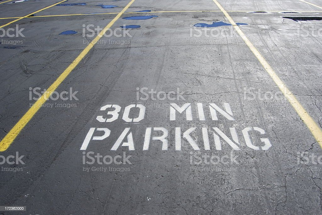 Thirty Minute parking royalty-free stock photo