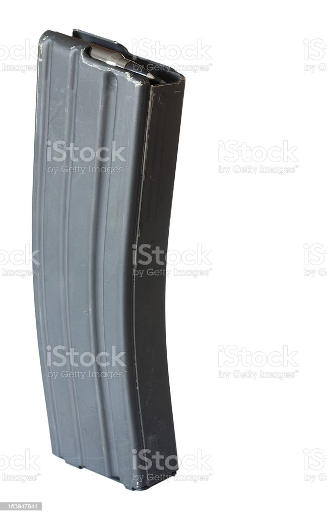 Thirty round rifle magazine stock photo