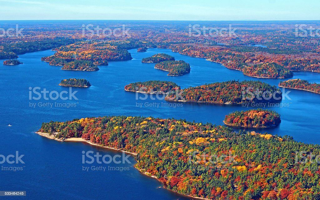 Thirty Thousand Islands stock photo