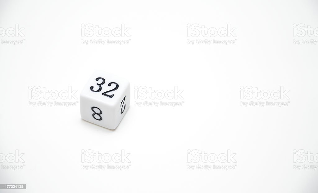 thirty two dice stock photo
