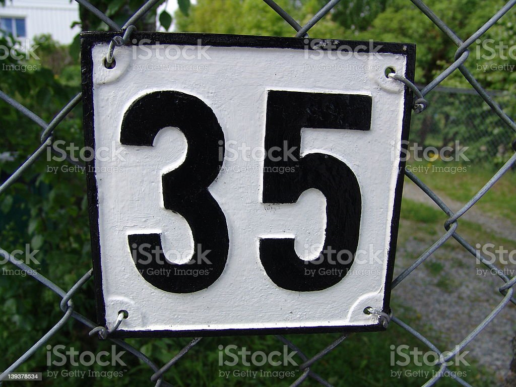 Thirty-Five stock photo