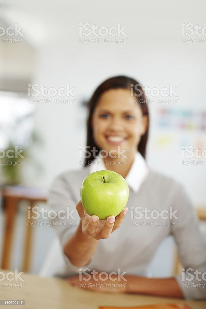 This apple is for you royalty-free stock photo