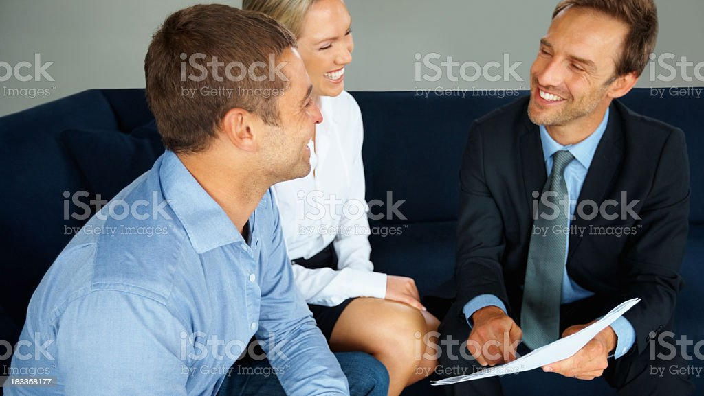 This are our new investment plans royalty-free stock photo