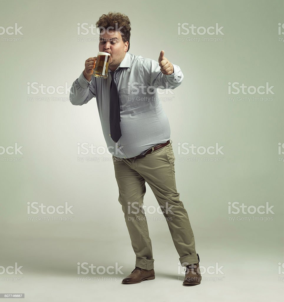 This beer is great! stock photo