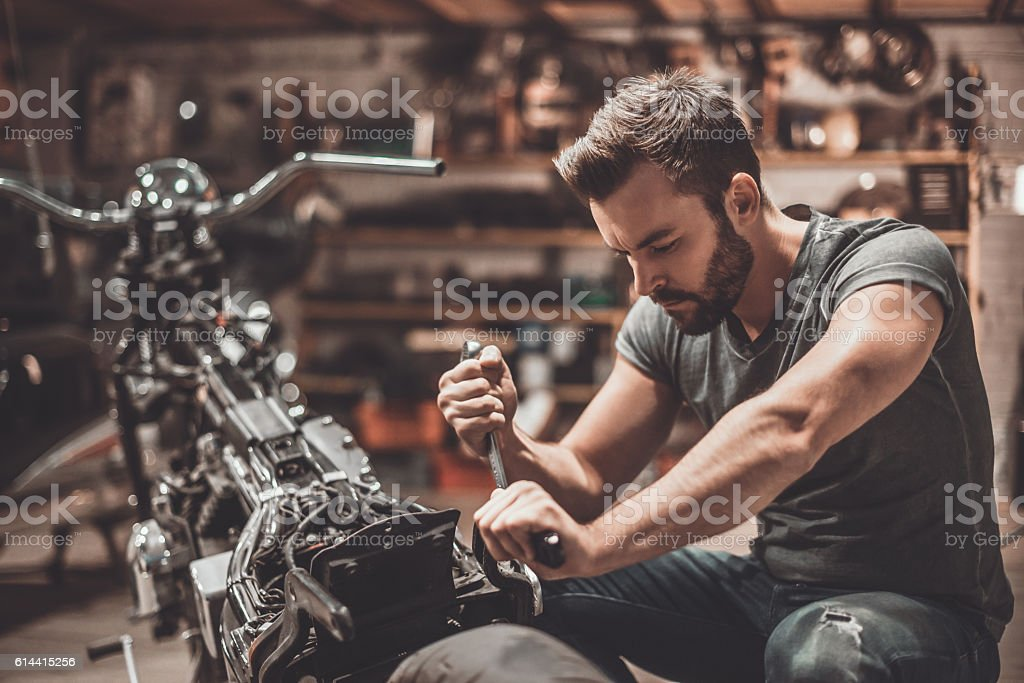 This bike should be perfect. stock photo