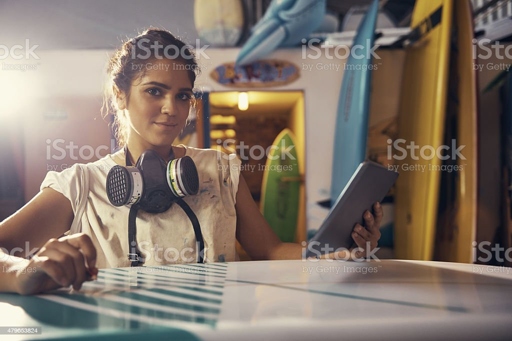 This board is going to be a masterpiece stock photo