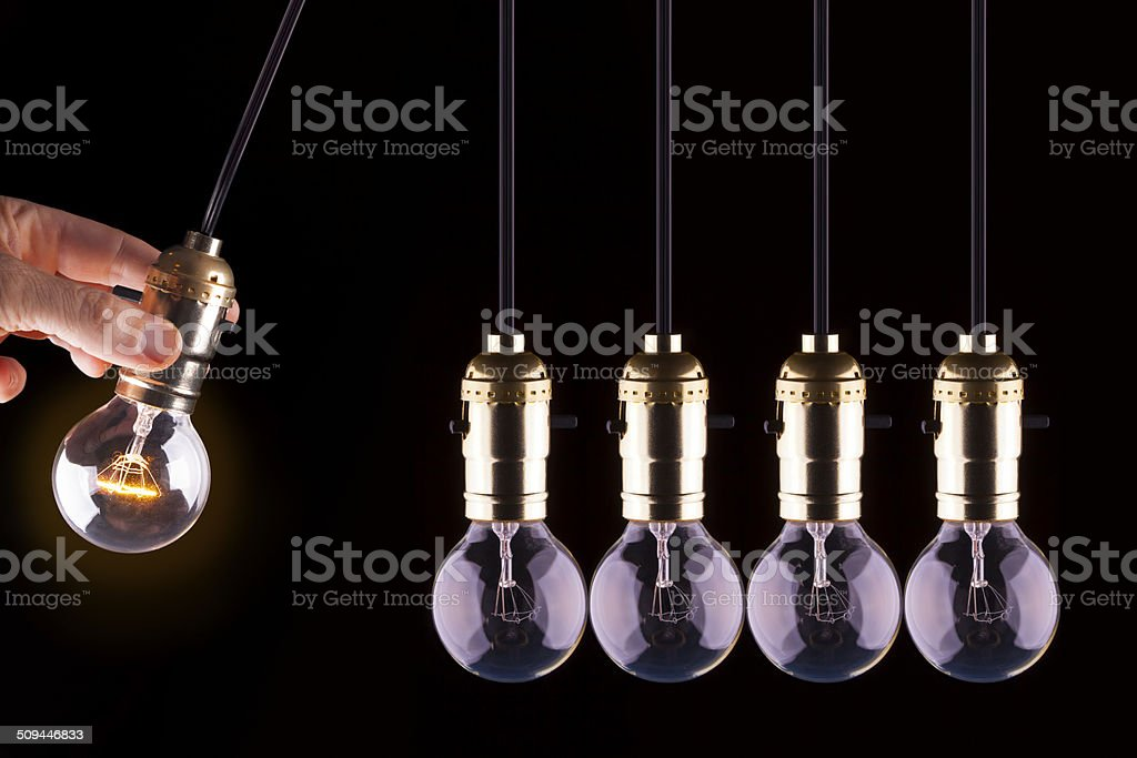 This Bright Idea is Going Viral stock photo