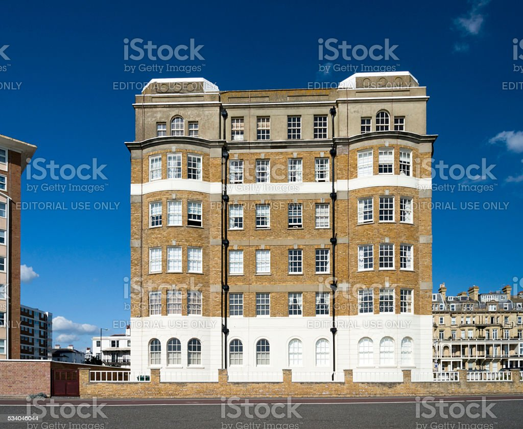 This Building is typical of Hove stock photo