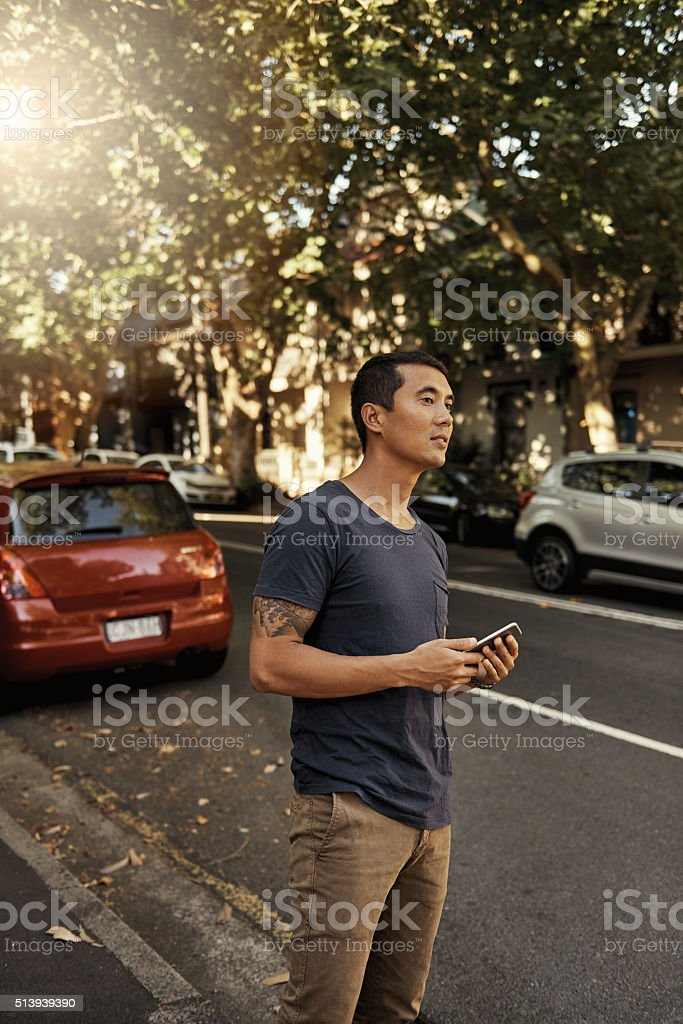 This cab is taking forever stock photo