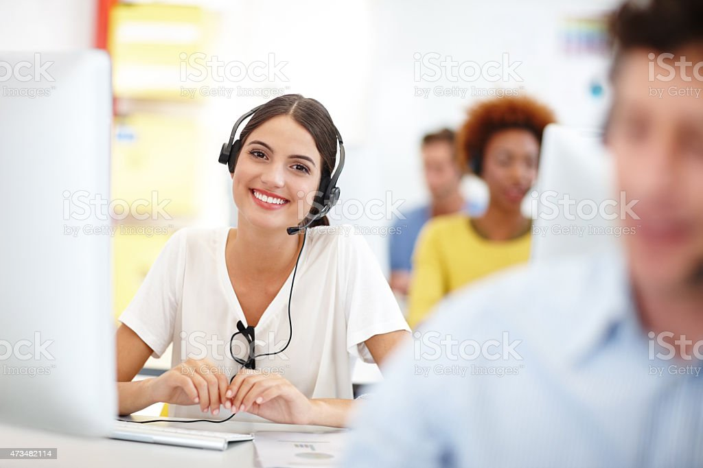 This call center outshines the rest stock photo