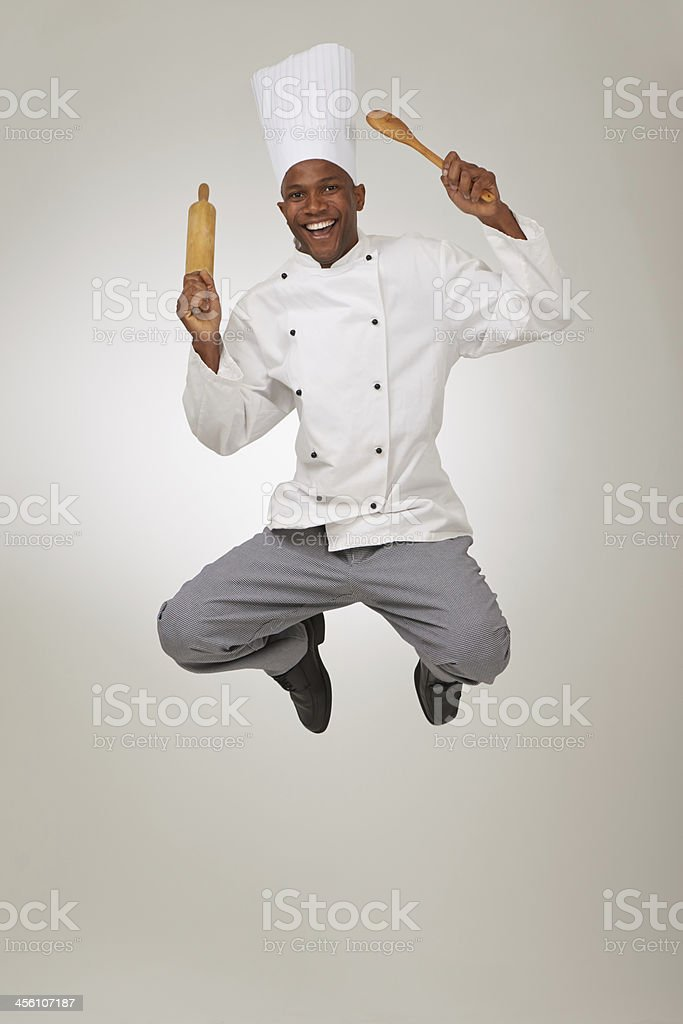 This chef is a high roller! royalty-free stock photo