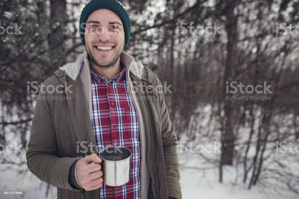 This coffee warms stock photo