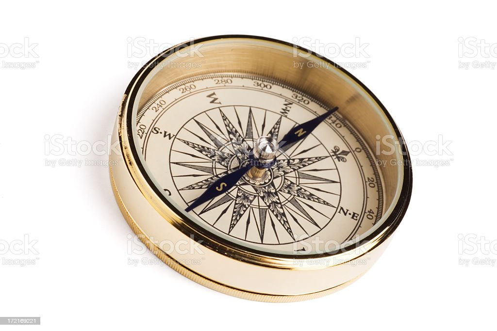 This compass is very expensive because is made of gold stock photo