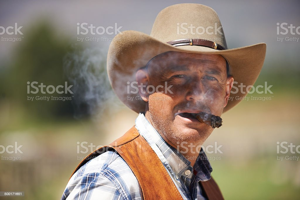 This cowboy means business royalty-free stock photo