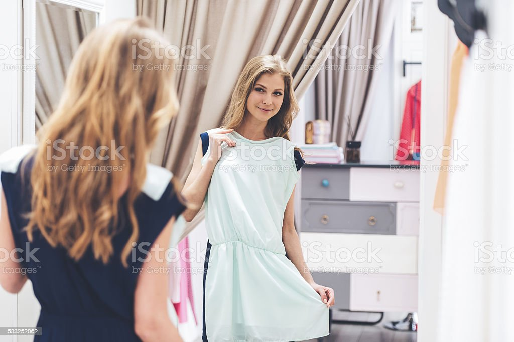 This dress is perfect! stock photo