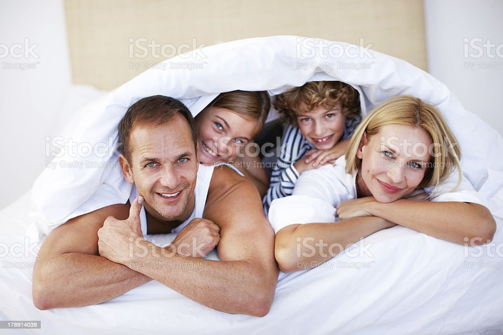 This family lives for the weekend stock photo