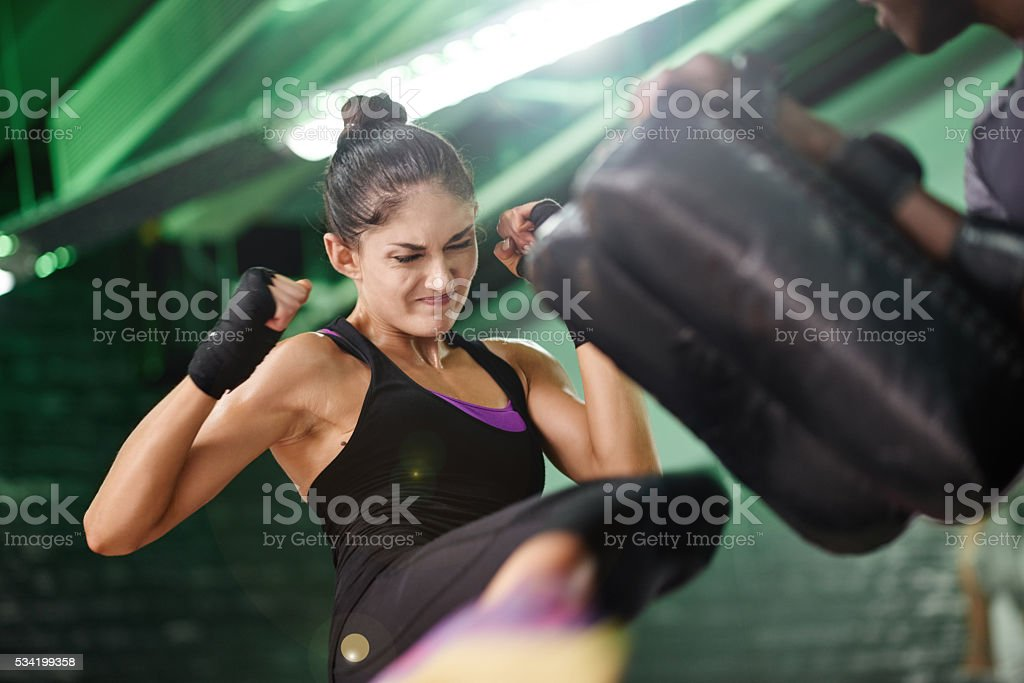 This girl can break more than your heart stock photo